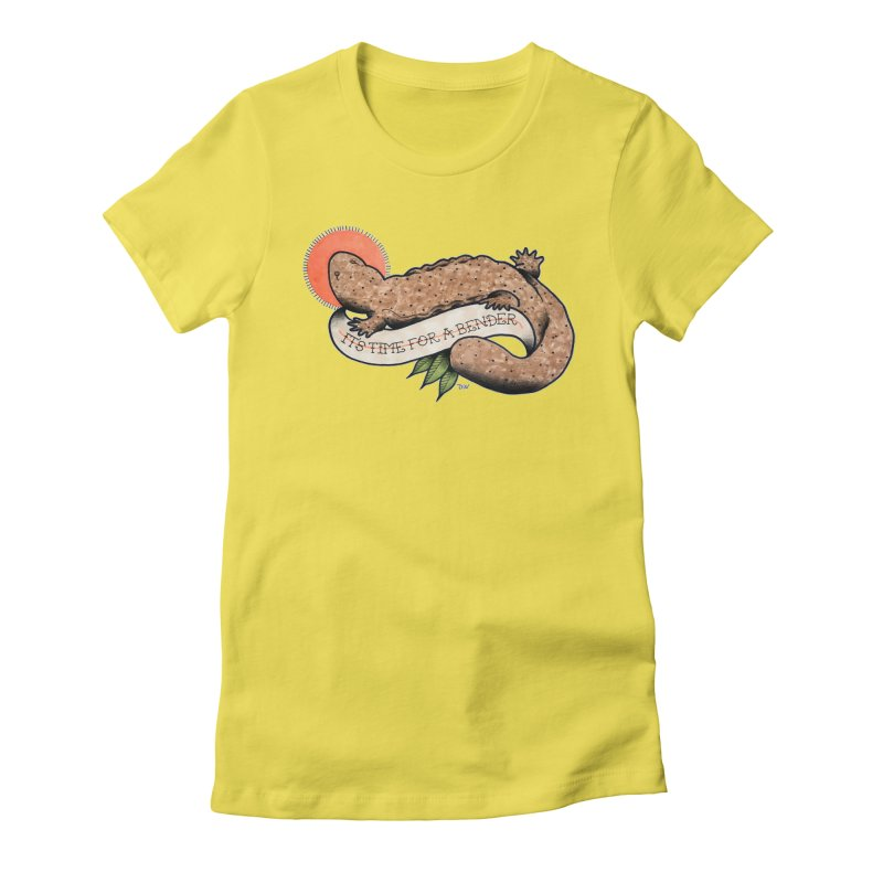It's Time for a Bender Women's Fitted T-Shirt by Drawn to Scales