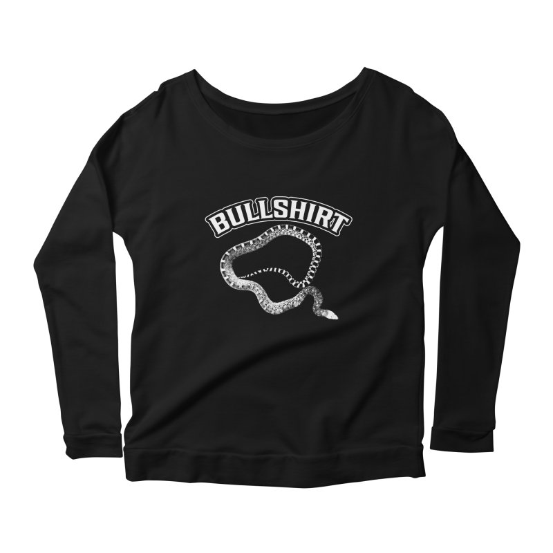 BULLSHIRT Women's Scoop Neck Longsleeve T-Shirt by Drawn to Scales