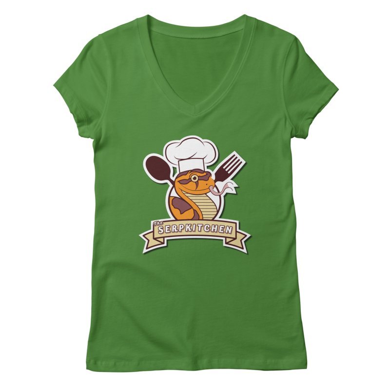 The SerpKitchen Women's Regular V-Neck by Drawn to Scales