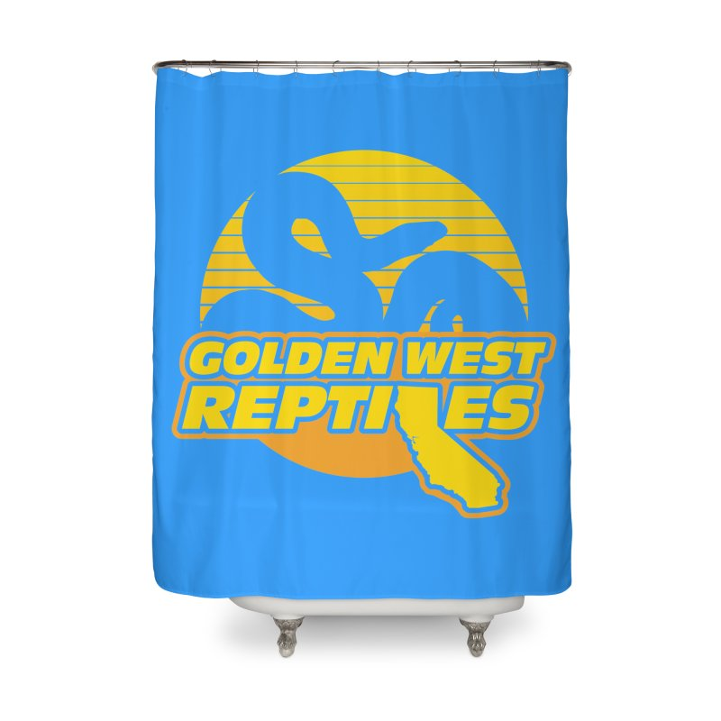 Golden West Reptiles Home Shower Curtain by Drawn to Scales