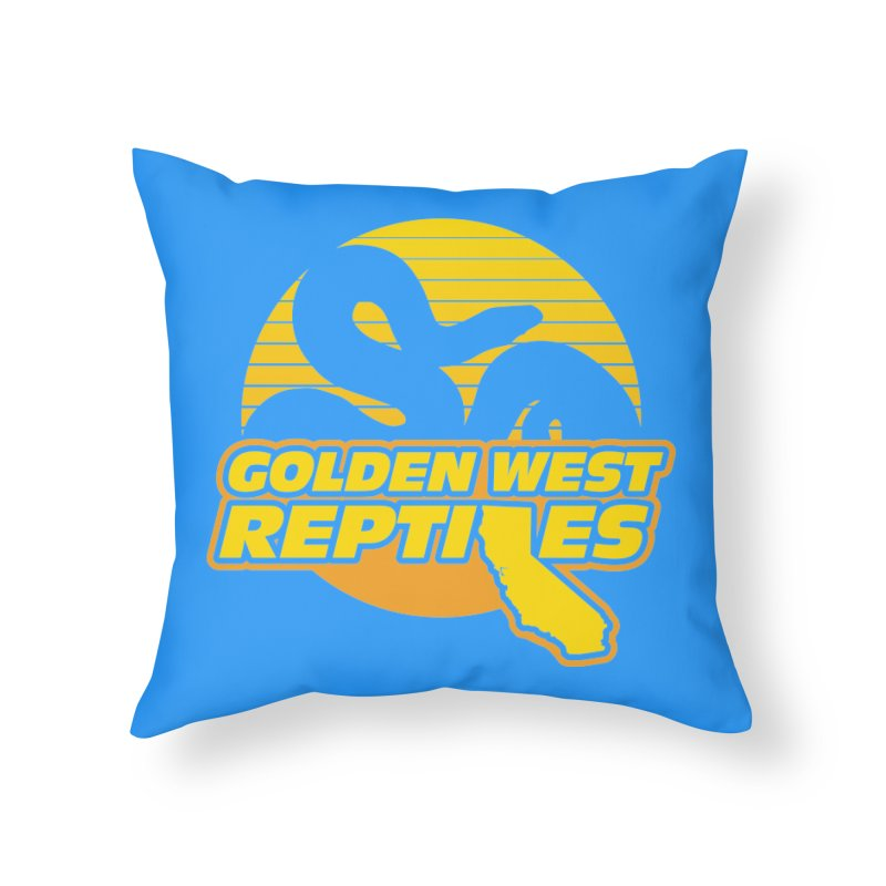 Golden West Reptiles Home Throw Pillow by Drawn to Scales