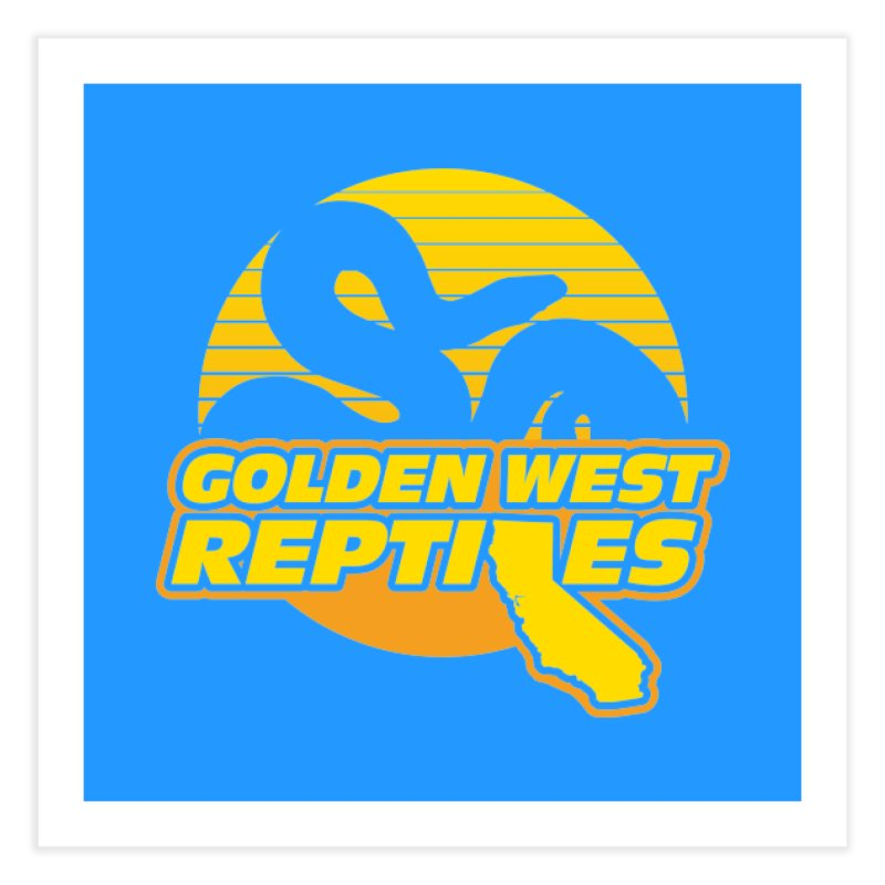 Golden West Reptiles Home Fine Art Print by Drawn to Scales