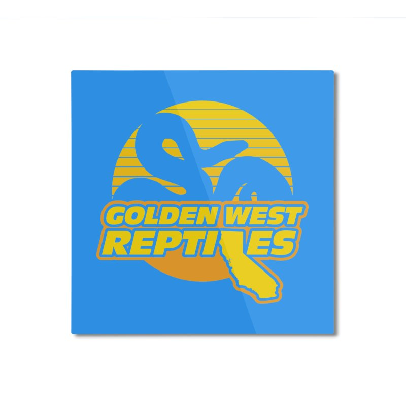 Golden West Reptiles Home Mounted Aluminum Print by Drawn to Scales