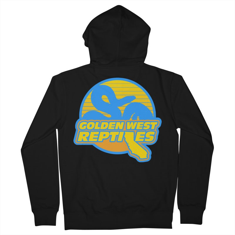 Golden West Reptiles Men's French Terry Zip-Up Hoody by Drawn to Scales