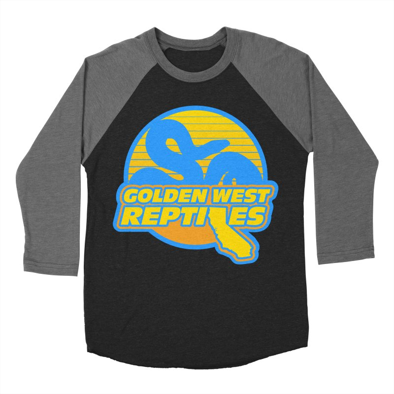Golden West Reptiles Women's Baseball Triblend Longsleeve T-Shirt by Drawn to Scales