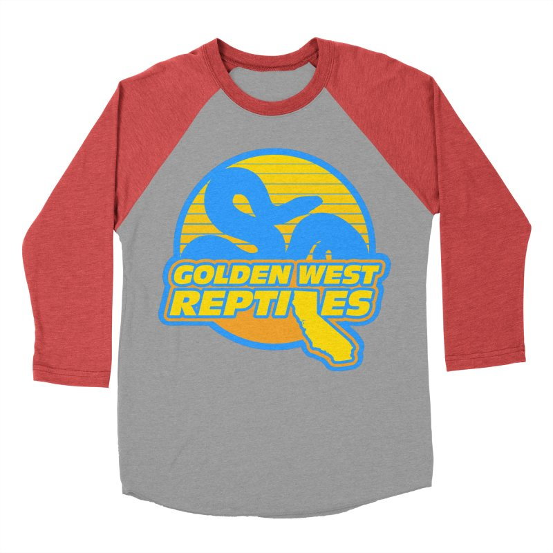 Golden West Reptiles Men's Baseball Triblend Longsleeve T-Shirt by Drawn to Scales
