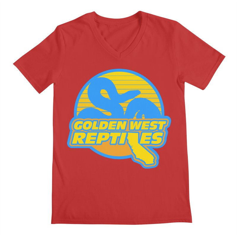Golden West Reptiles Men's Regular V-Neck by Drawn to Scales