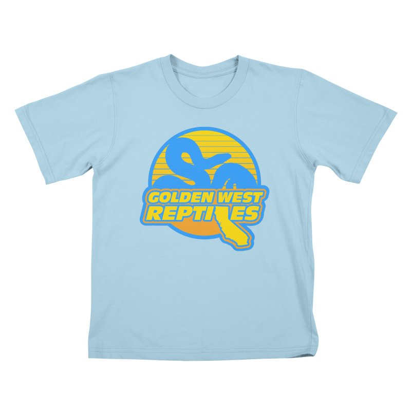 Golden West Reptiles Kids T-Shirt by Drawn to Scales