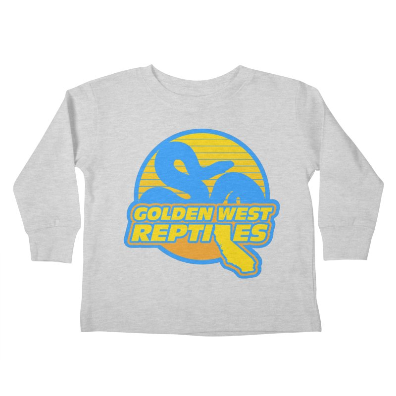 Golden West Reptiles Kids Toddler Longsleeve T-Shirt by Drawn to Scales