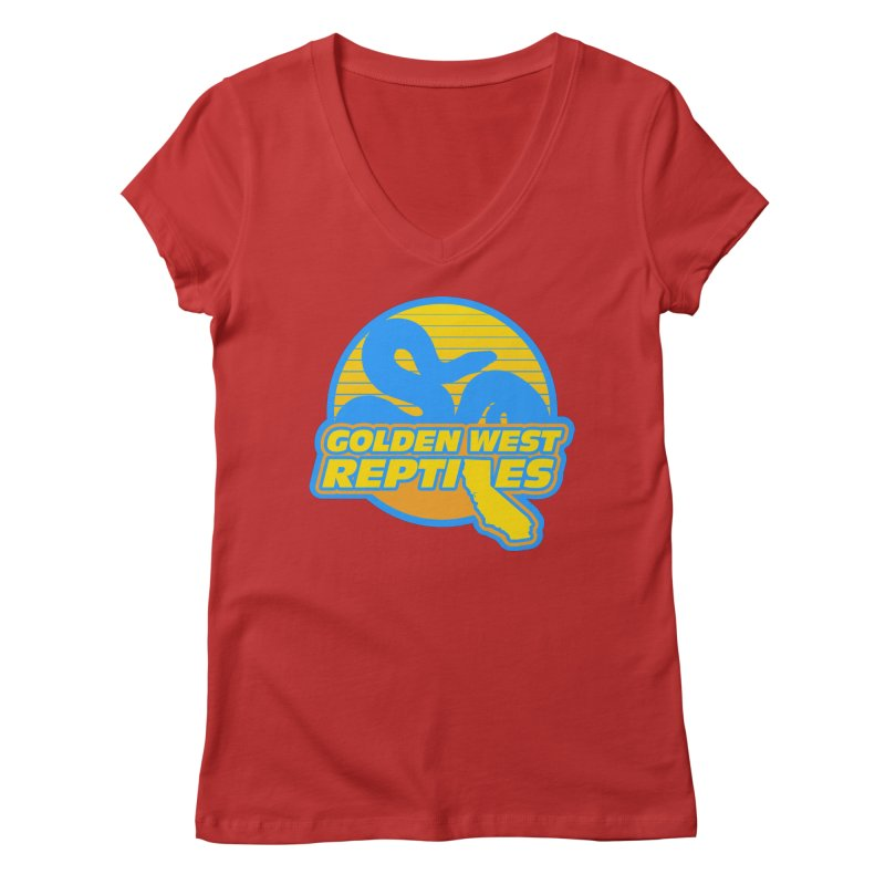 Golden West Reptiles Women's Regular V-Neck by Drawn to Scales