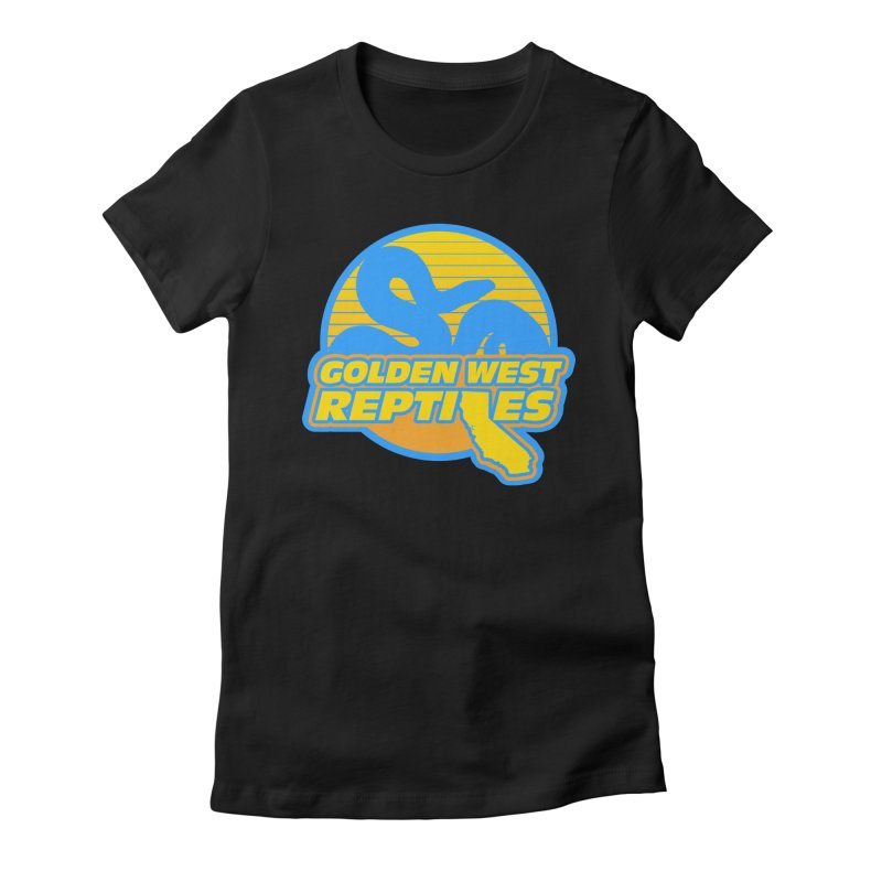Golden West Reptiles Women's Fitted T-Shirt by Drawn to Scales