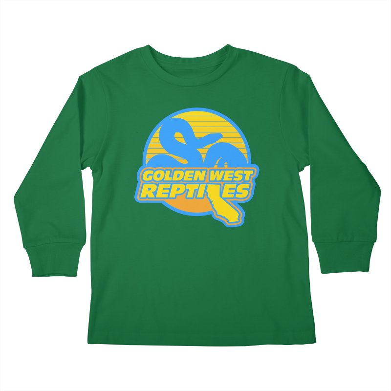 Golden West Reptiles Kids Longsleeve T-Shirt by Drawn to Scales
