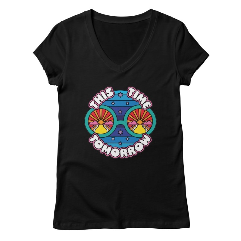 This Time Tomorrow Women's V-Neck by Draw! Pilgrim