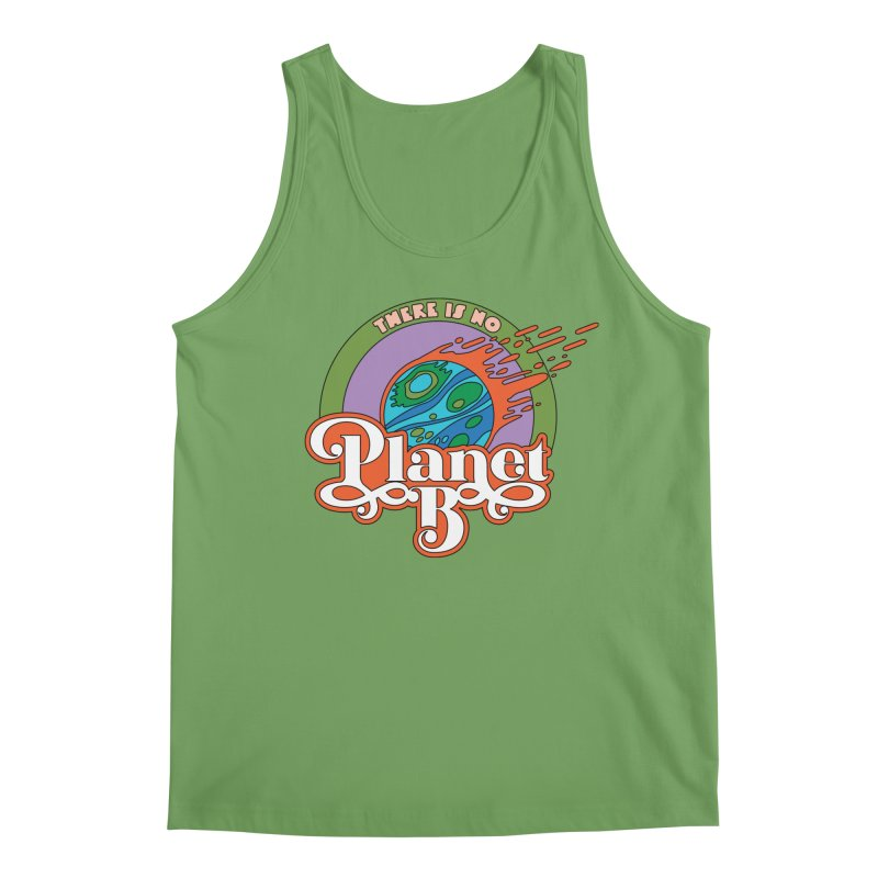 There Is No Planet B Men's Tank by Draw! Pilgrim