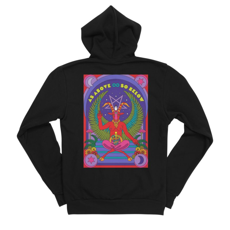 As Above So Below Men's Zip-Up Hoody by Draw! Pilgrim