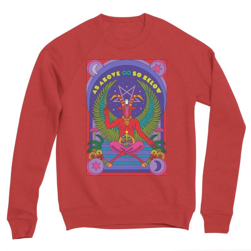 As Above So Below Men's Sweatshirt by Draw! Pilgrim