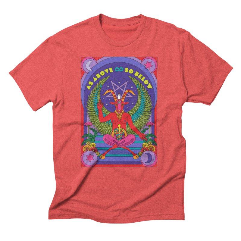 As Above So Below Men's T-Shirt by Draw! Pilgrim
