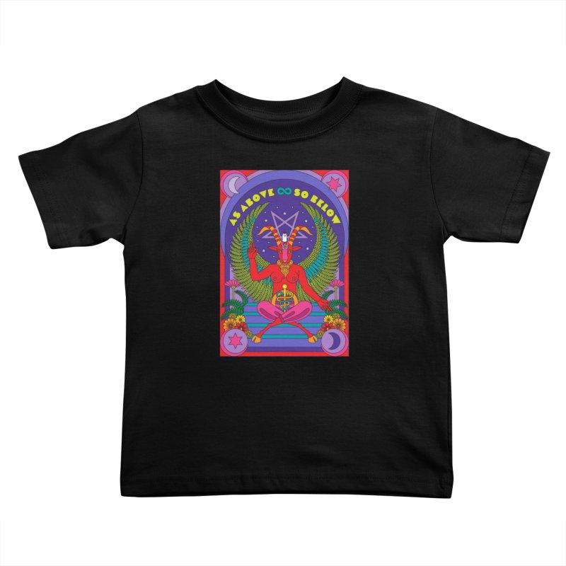 As Above So Below Kids Toddler T-Shirt by Draw! Pilgrim