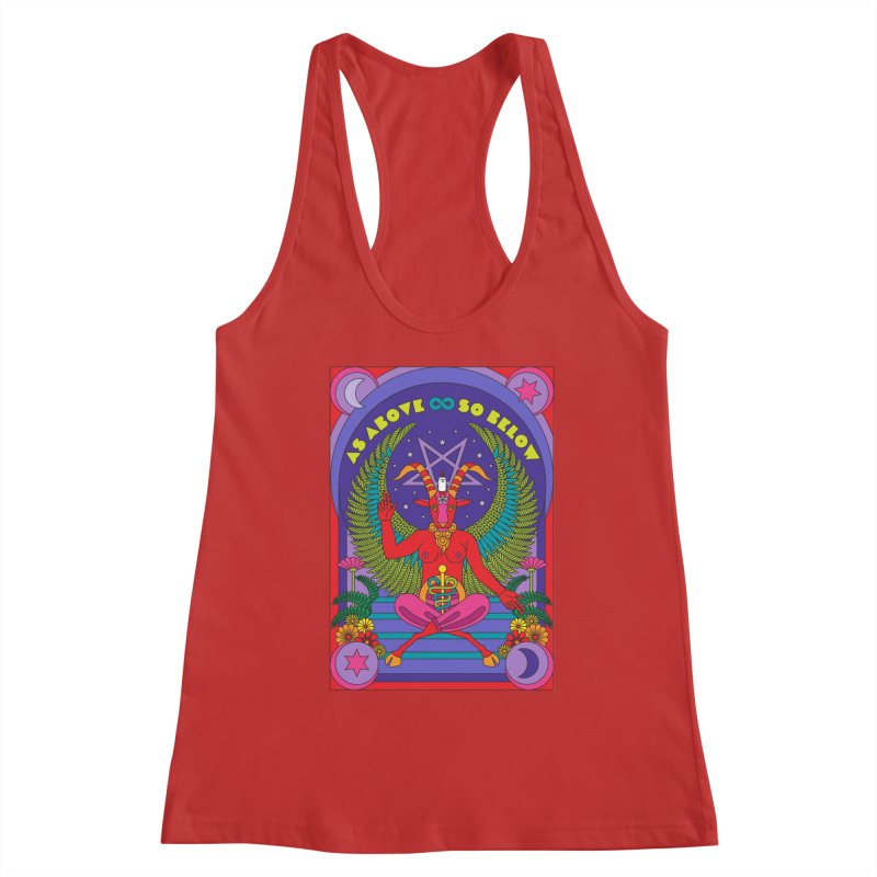 As Above So Below Women's Tank by Draw! Pilgrim