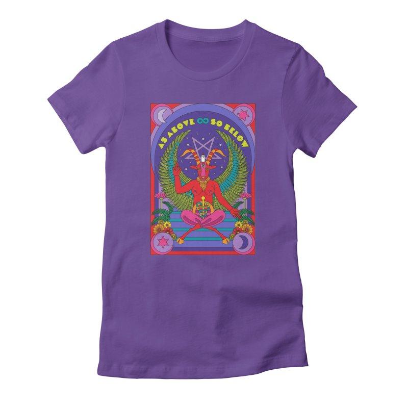 As Above So Below Women's T-Shirt by Draw! Pilgrim