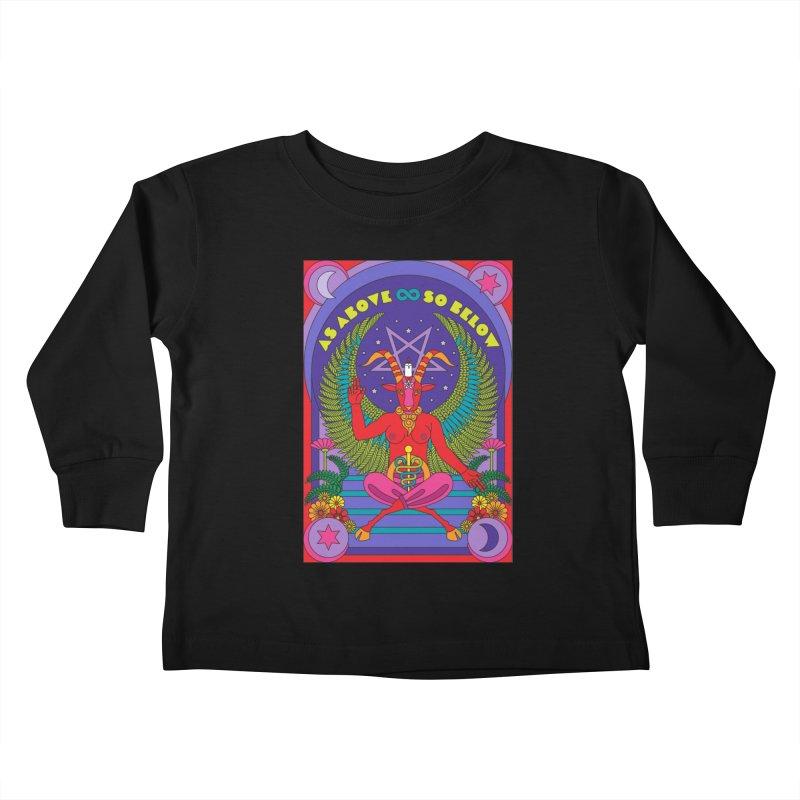 As Above So Below Kids Toddler Longsleeve T-Shirt by Draw! Pilgrim