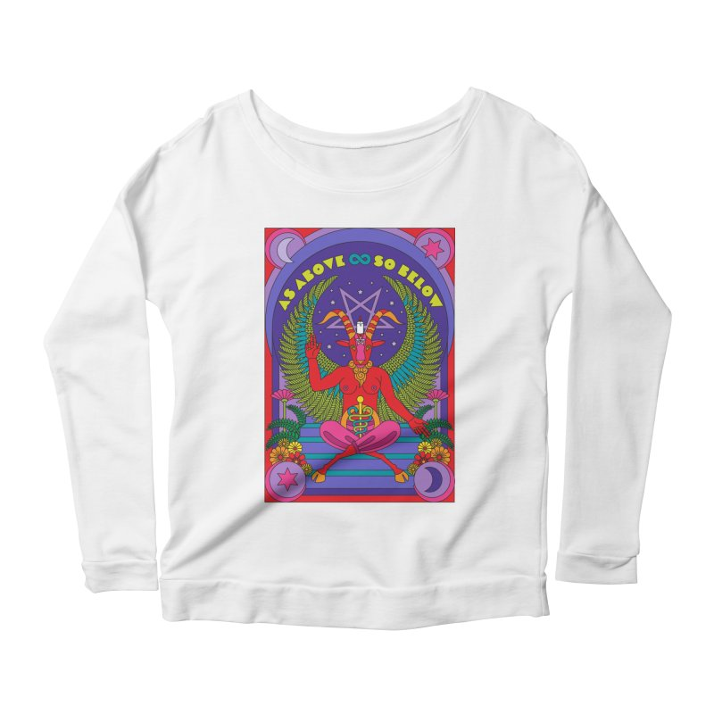 As Above So Below Women's Longsleeve T-Shirt by Draw! Pilgrim