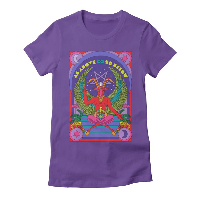 As Above So Below Women's T-Shirt by Draw! Pilgrim
