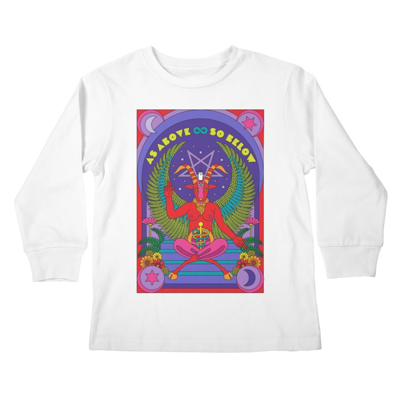 As Above So Below Kids Longsleeve T-Shirt by Draw! Pilgrim