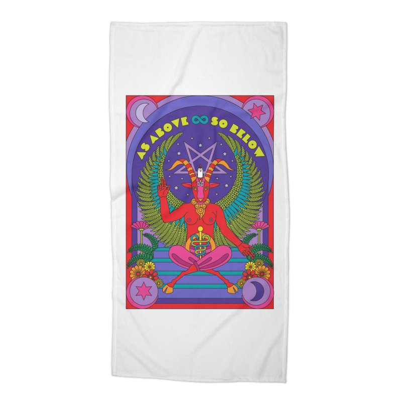 As Above So Below Accessories Beach Towel by Draw! Pilgrim