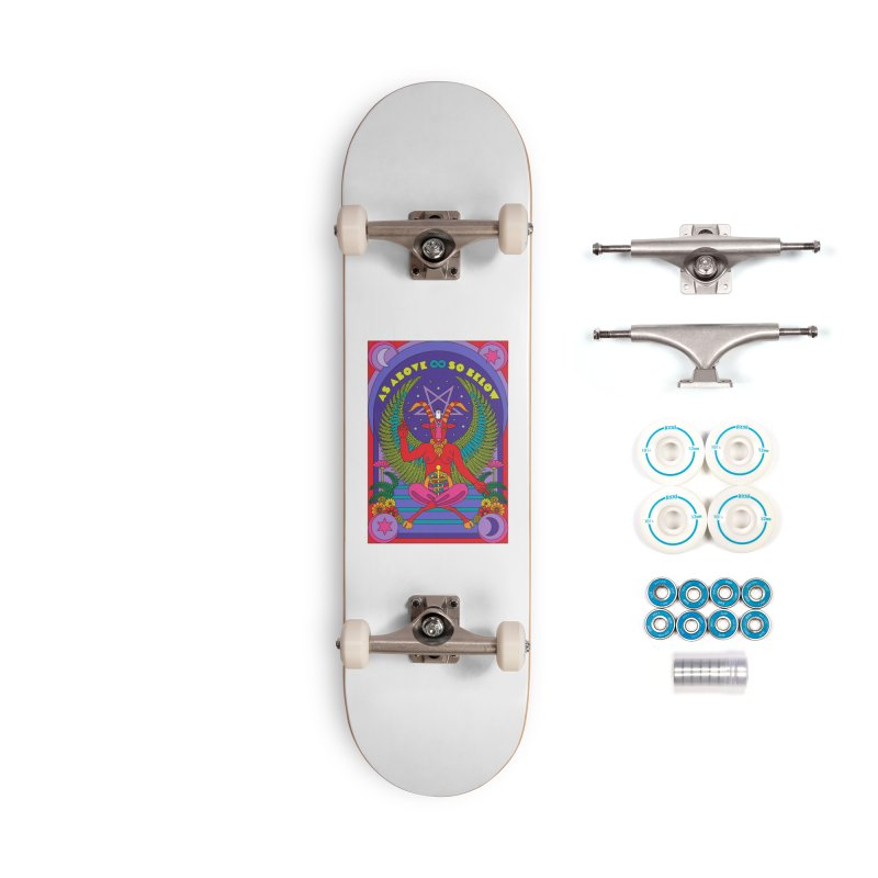 As Above So Below Accessories Skateboard by Draw! Pilgrim