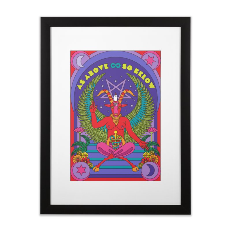 As Above So Below Home Framed Fine Art Print by Draw! Pilgrim