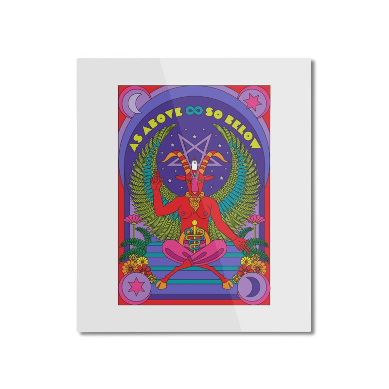 As Above So Below Home Mounted Aluminum Print by Draw! Pilgrim