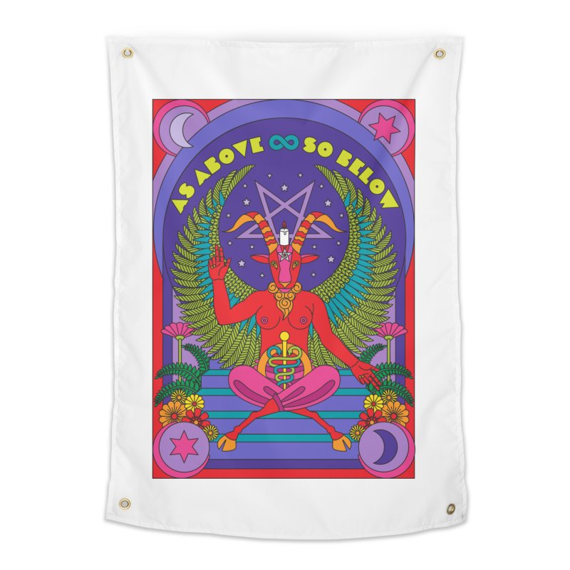 As Above So Below Home Tapestry by Draw! Pilgrim