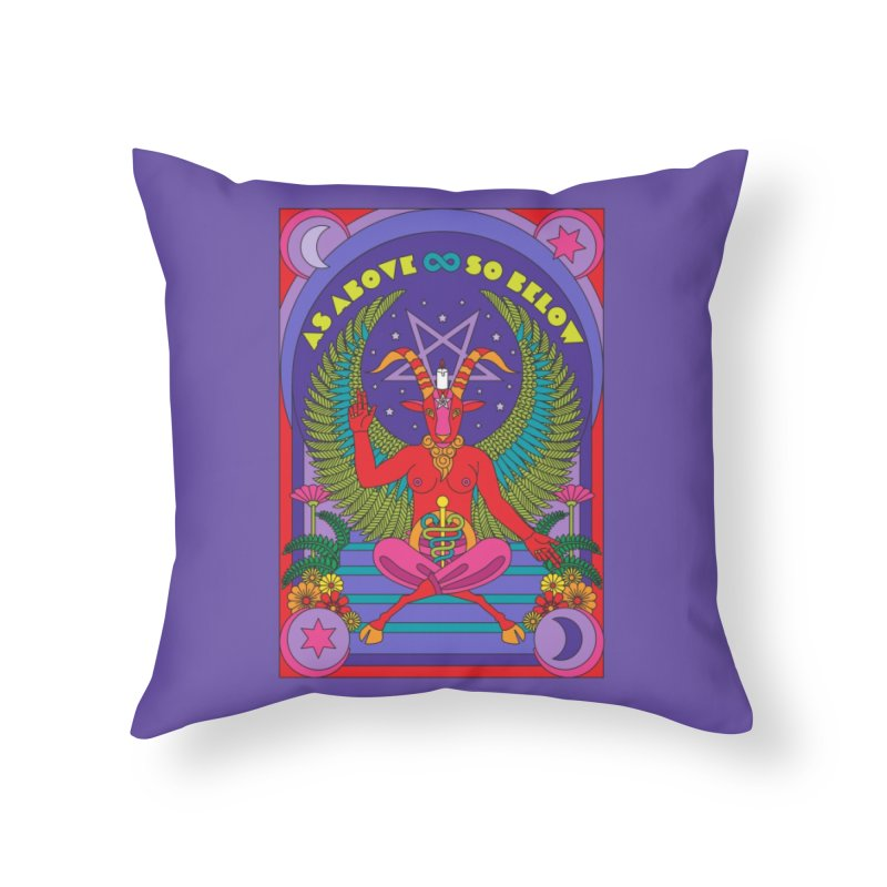 As Above So Below Home Throw Pillow by Draw! Pilgrim