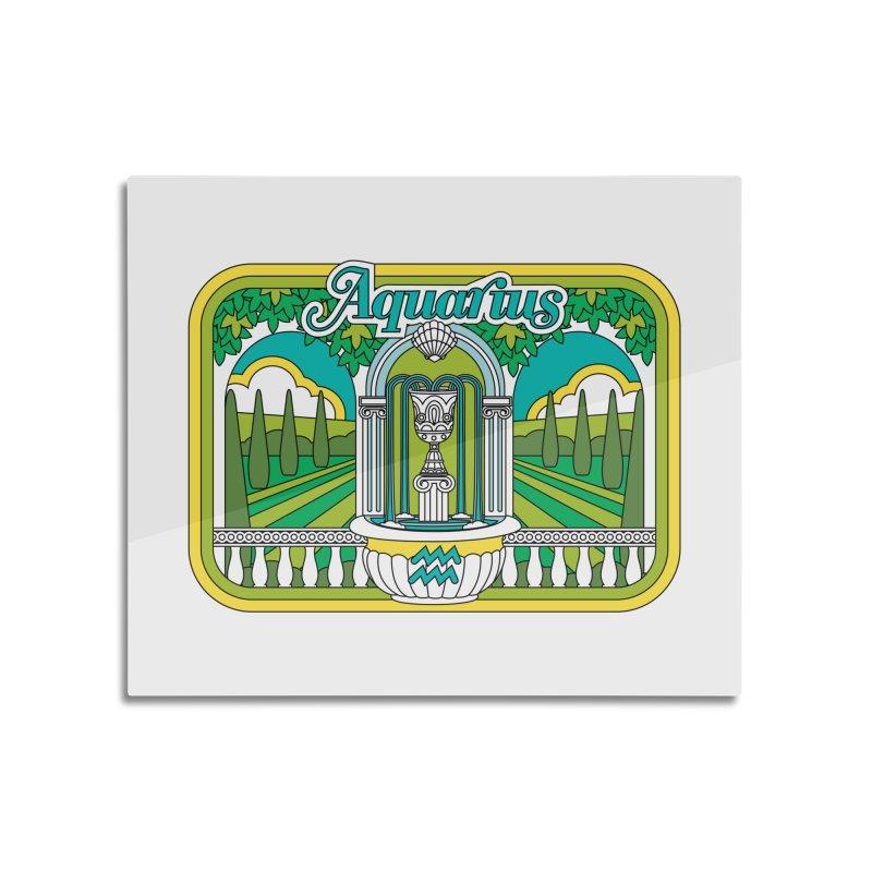 Aquarius Home Mounted Aluminum Print by Draw! Pilgrim