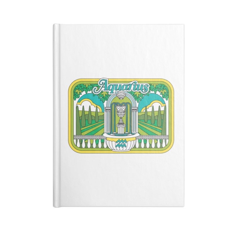 Aquarius Accessories Notebook by Draw! Pilgrim