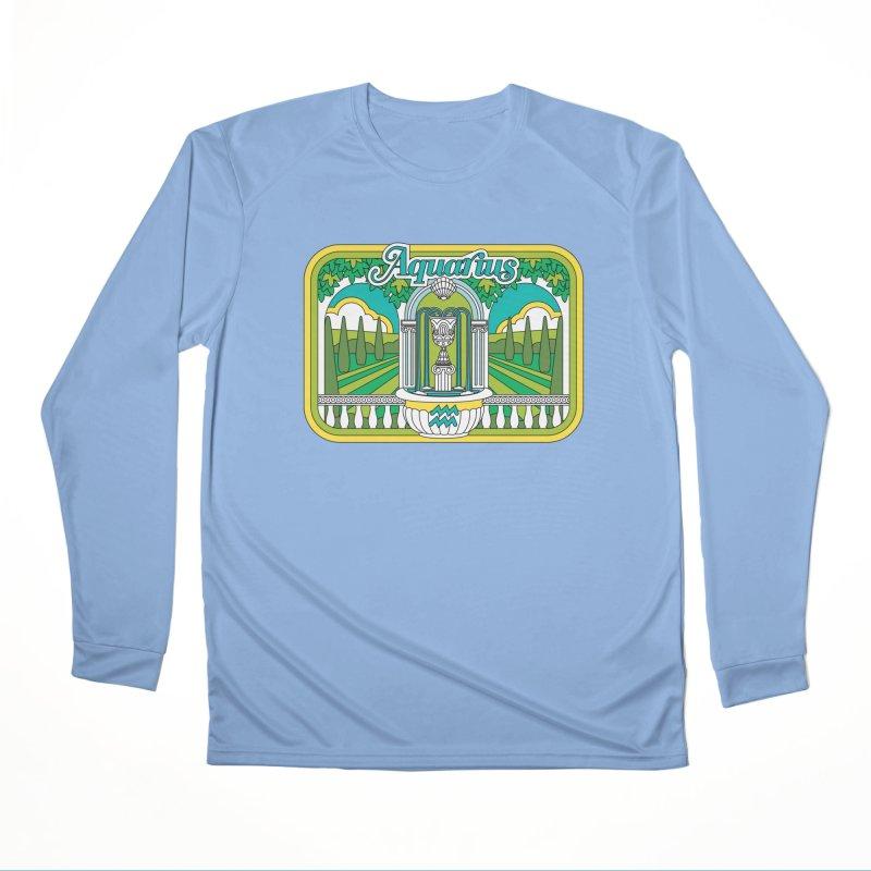 Aquarius Men's Longsleeve T-Shirt by Draw! Pilgrim