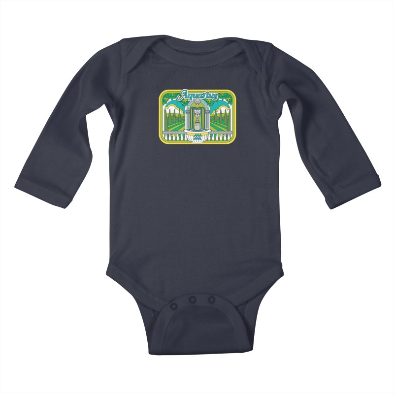 Aquarius Kids Baby Longsleeve Bodysuit by Draw! Pilgrim