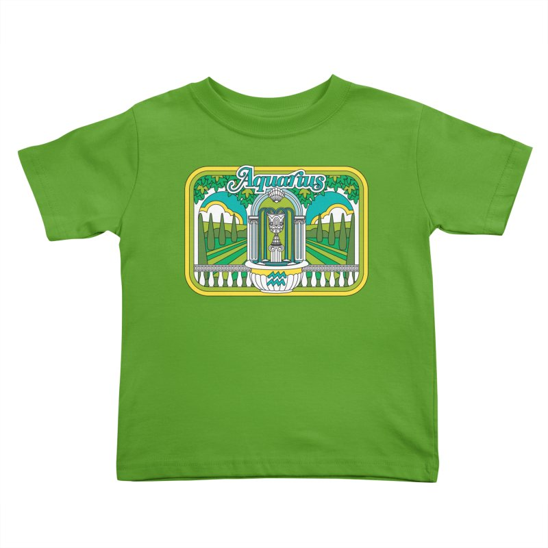 Aquarius Kids Toddler T-Shirt by Draw! Pilgrim