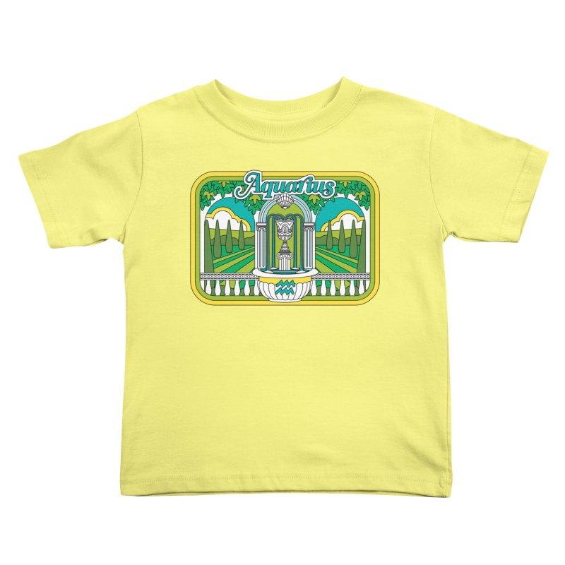 Aquarius Kids Toddler T-Shirt by Draw! Pilgrim