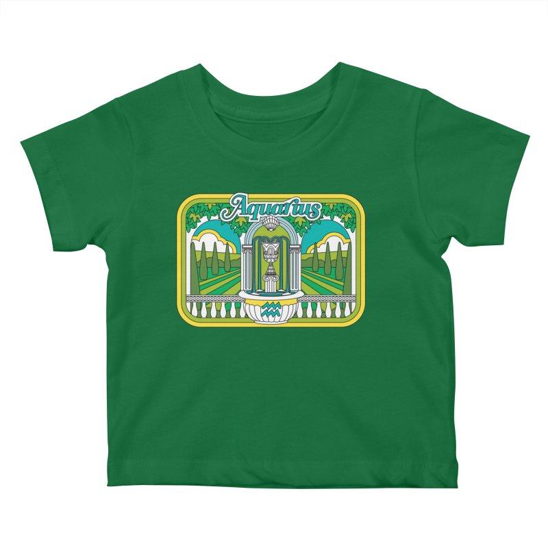 Aquarius Kids Baby T-Shirt by Draw! Pilgrim