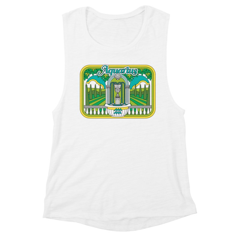Aquarius Women's Tank by Draw! Pilgrim