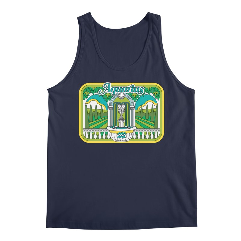 Aquarius Men's Tank by Draw! Pilgrim