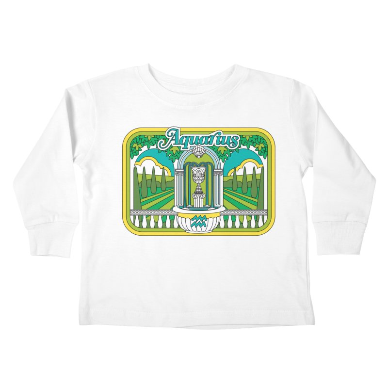 Aquarius Kids Toddler Longsleeve T-Shirt by Draw! Pilgrim