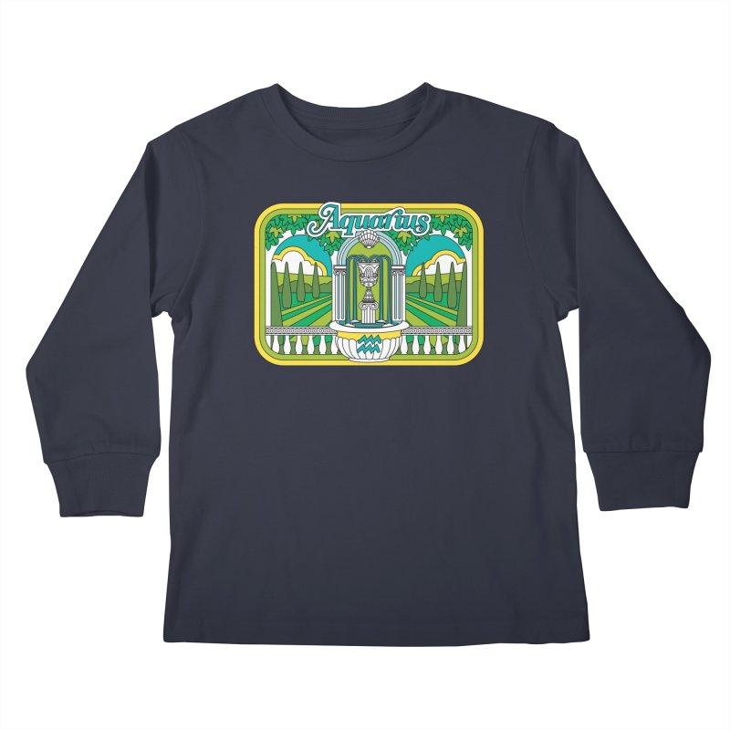 Aquarius Kids Longsleeve T-Shirt by Draw! Pilgrim
