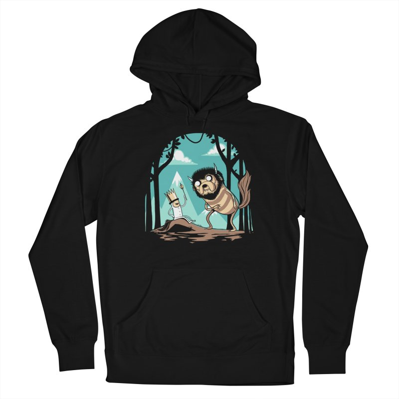 Where the Wild Adventures Are Women's French Terry Pullover Hoody by Drawsgood Illustration and Design