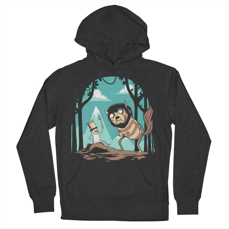 Where the Wild Adventures Are Men's Pullover Hoody by Drawsgood Illustration and Design