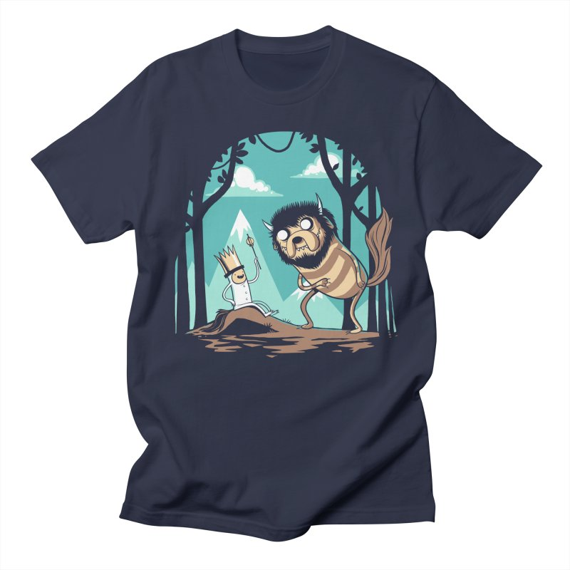 Where the Wild Adventures Are Women's Unisex T-Shirt by Drawsgood Illustration and Design