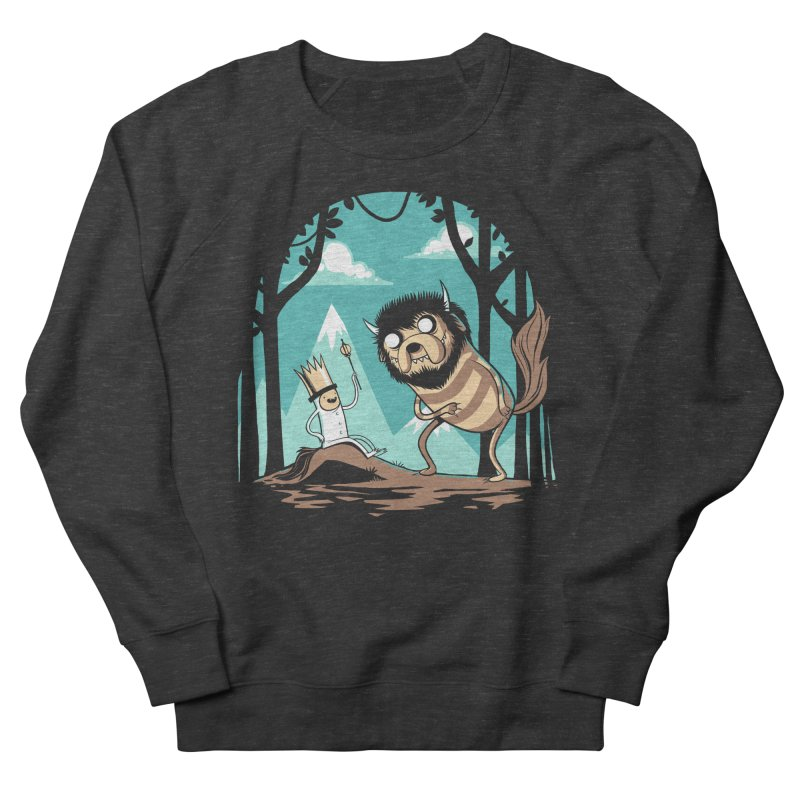 Where the Wild Adventures Are Men's French Terry Sweatshirt by Drawsgood Illustration and Design
