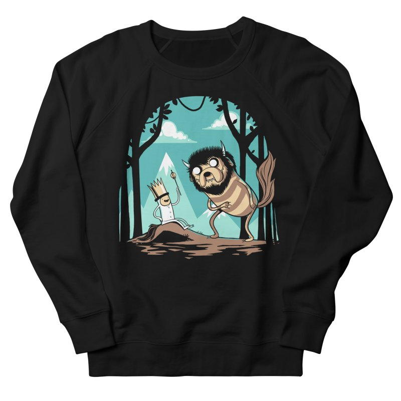 Where the Wild Adventures Are Men's Sweatshirt by Drawsgood Illustration and Design